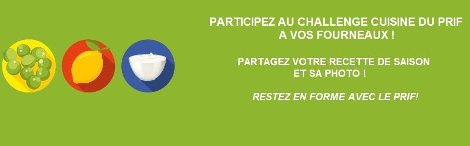 Participez au challenge cuisine du Prif !